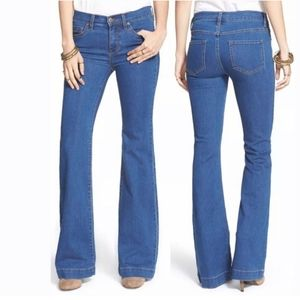 Free People Dallas Bell Bottom Stretch Jeans